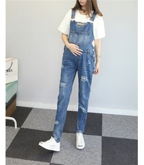 maternity trousers pregnant denim overalls belly pants adjustable plus jumpsuits