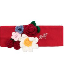 monnalisa floral embroidered rhinestone headband