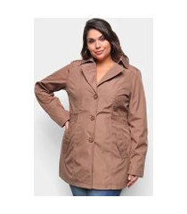 jaqueta city lady plus size trench coat feminina