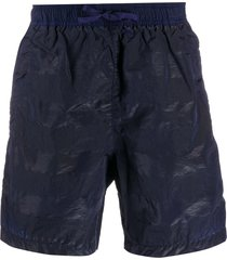 stone island shadow project shell swim shorts - blue