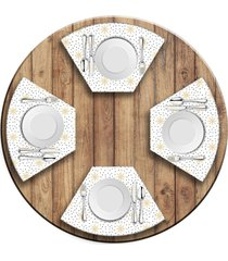 jogo americano   para mesa redonda wevans estrelas  love decor - multicolorido - dafiti