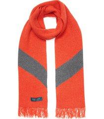 two tone fringe scarf