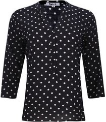 blusa estampada color negro, talla xs