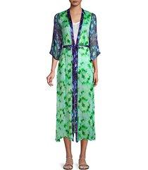 julietta open front tie-dye kimono