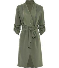 giacca lunga in jersey (verde) - bodyflirt
