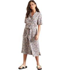 printed shirtdress dress & one piece