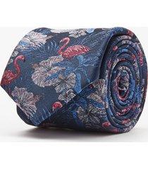 krawat kwiaty granatowy 101