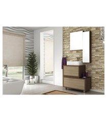 conjunto banheiro armários superiores mdf 80cm lilies móveis
