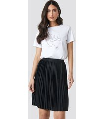 na-kd short pleated skirt - black