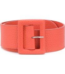 orciani textured belt - orange