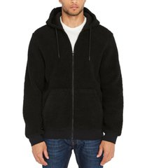 buffalo david bitton men's textured fleece hoodie