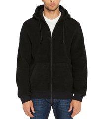 buffalo david bitton men's textured fleece hoodie