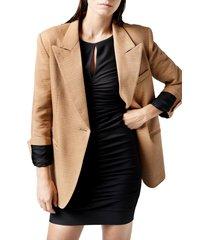 women's smythe '90s linen blend slub blazer, size small - beige