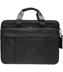 "beverly hills collection men's double compartment briefcase with rfid secure pocket for 17.3"" laptop and tablet"