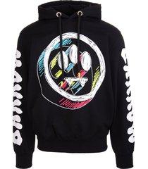 barrow unisex black hoodie with multicolored 3d logo