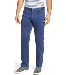 men's peter millar ultimate sateen five pocket pants, size 38 - blue