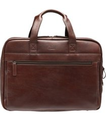 "beverly hills collection men's double compartment briefcase with rfid secure pocket for 15.6"" laptop and tablet"