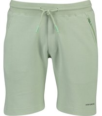 airforce short sweat pants mint groen