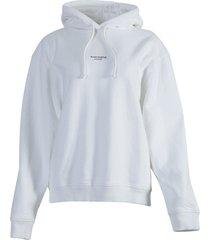 contrasting printed logo hoodie