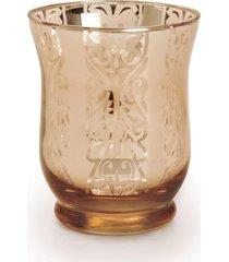 copo porta vela decoração natal 8cm 1 unidade cor cobre