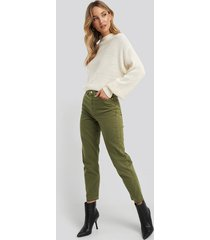 trendyol high waist mom jeans - green