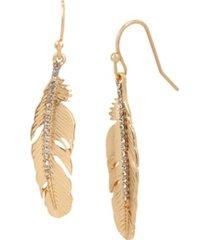 jessica simpson feather drop earrings