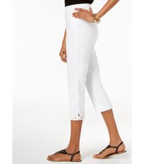 jm collection crochet-lace applique capri pants, created for macy's