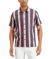 sun + stone men's vertical stripe shirt, created for macy's