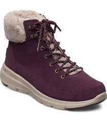 womens on the go glacial ultra - woodlands shoes boots ankle boots ankle boot - flat lila skechers