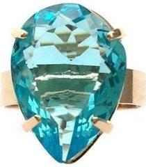 anel armazem rr bijoux gota azul