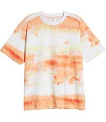 men's bp. tie dye t-shirt, size large - coral