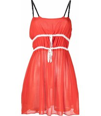 cormio rosamunda lace-embellished dress
