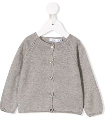 knot basic knitted cardigan - grey