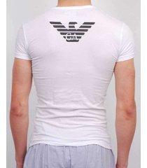 emporio armani t-shirt eagle stretch cotton ronde hals wit