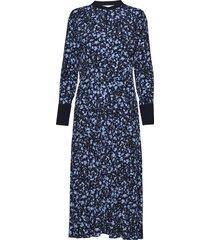 loganiw dress maxi dress galajurk blauw inwear