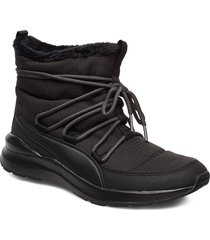 adela winter boot shoes boots ankle boots ankle boot - flat svart puma