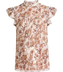 luciana floral-print top