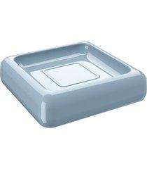 saboneteira cube 2,5x10cm azul fog