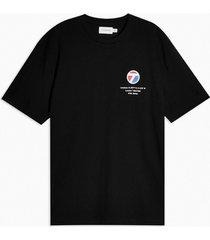 mens black considered city back print organic cotton t-shirt