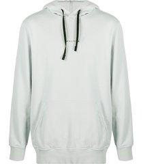 1017 alyx 9sm mini logo hooded sweatshirt - blue
