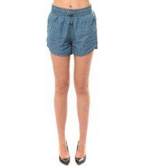 korte broek vero moda cashua lw loose short shorts 10108195 bleu