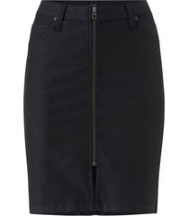 kjol high waist zip skirt