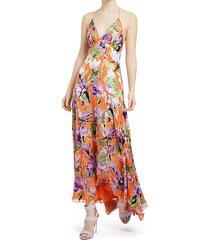 hetty floral halter dress