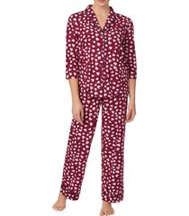 women's room service cozy cool pajamas, size medium - burgundy (nordstrom exclusive)