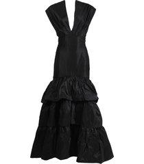 black corazon coraza maxi dress