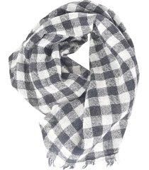 a punto b checked scarf