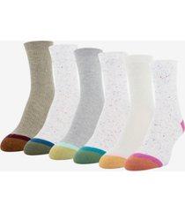 goldtoe women's 6-pk. lola nep rib short crew socks