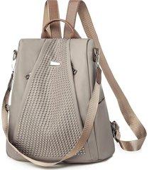 mochilas de mujer oxford mochila impermeable nuevas-beige