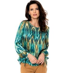 blusa bisô decote costas feminina