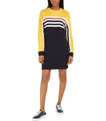 tommy hilfiger striped colorblocked sweater dress